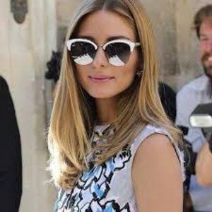 Dior Diorrun white retro acetate sunglasses